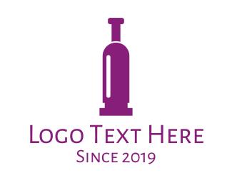 Colt - Purple Bullet Wine logo design