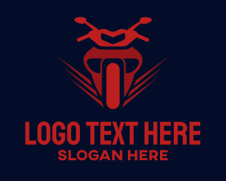 Fast - Red Motorcycle logo design