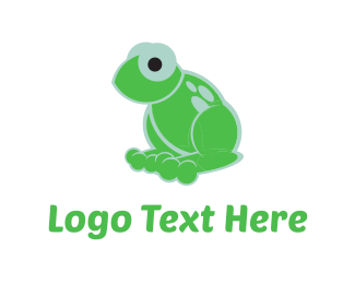 Toy - Green Frog logo design