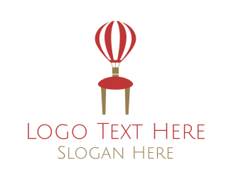 Hot Air Balloon - Balloon Furniture logo design