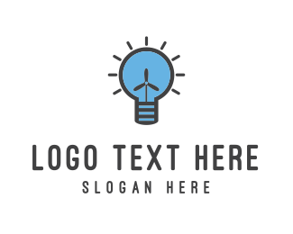 Fan - Wind Energy logo design