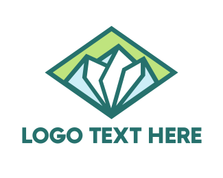 Destination - Diamond Green Mountain logo design