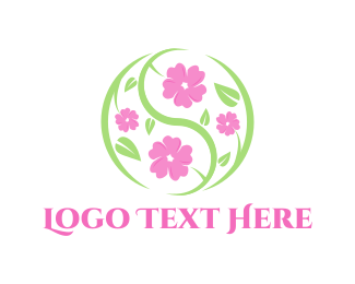 Cherry Blossom - Sakura Circle logo design
