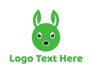 Hare - Rabbit Leaf logo design