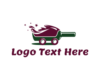 Bartender - Red Wine Delivery logo design