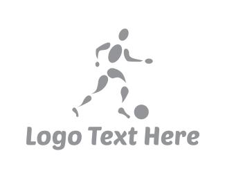 Football - Soccer Player logo design