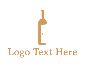 Open - Bar Door logo design