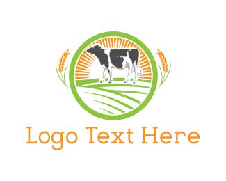 Cow - Dairy Farm logo design