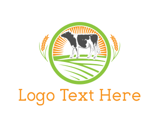 Cattle - Dairy Farm logo design