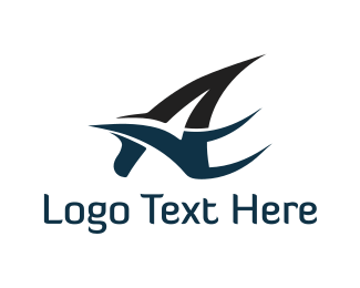 Letter A - Bird Letter A logo design