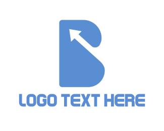 Arrow Letter B Logo