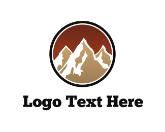 Black And Brown - Brown Mountains logo design