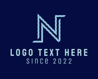 Art - Diamond Letter N logo design