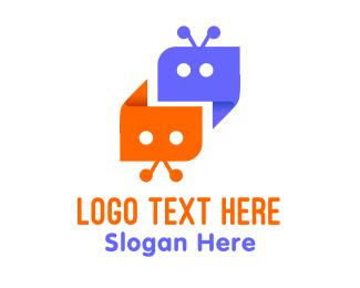 Chat - Chat Bots logo design