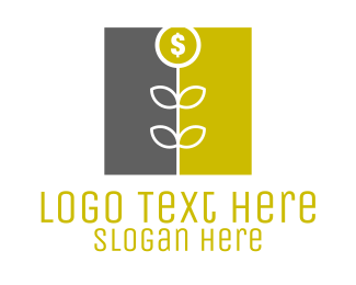 Dollar - Money Flower logo design