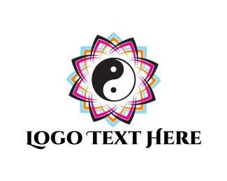 Yin And Yang - Zen Flower logo design
