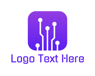 App Developer - Circuit Button logo design