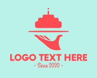 Waitress - Cake Tray logo design