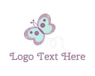 Baby - Cute Butterfly logo design
