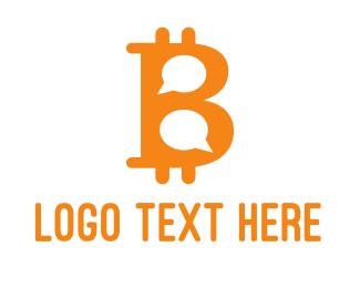 Buy - Bitcoin Chat logo design