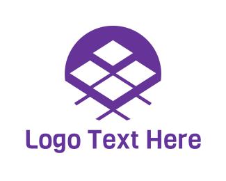 Grid - Purple Tiles logo design