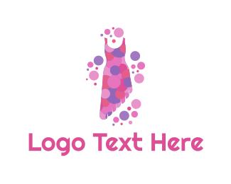 Dress - Asymmetric Dress logo design