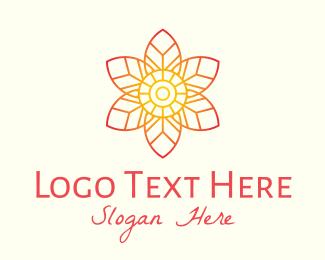 Gradient - Pink Gradient Flower logo design