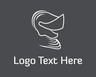Lord - Knight Helmet logo design