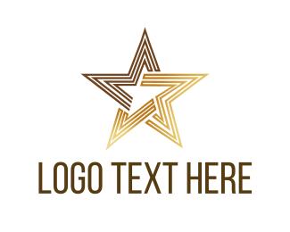Brown - Luxury Star logo design