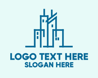 Construction - Blue City logo design