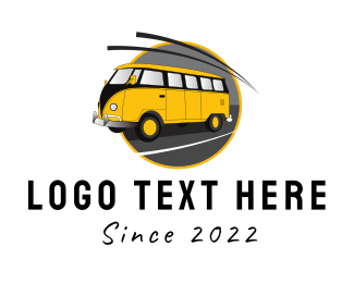 Rv - Yellow Van logo design