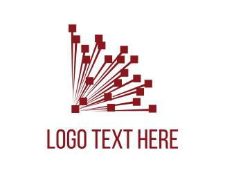 Explosion - Red Network  logo design