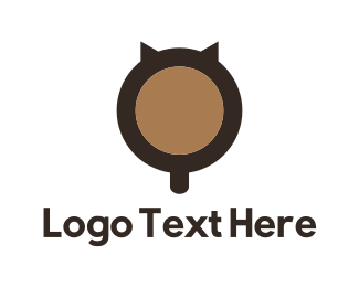 Evil - Cat Coffee logo design