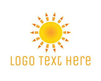 Pedagogy - Sun Pencils  logo design