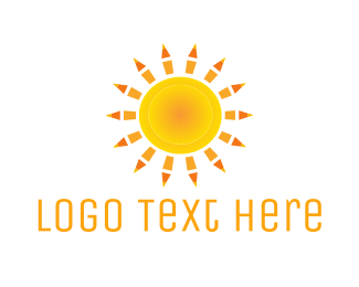 Learning - Sun Pencils  logo design