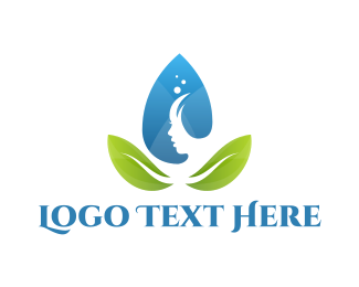 Spa - Water Leaf Spa logo design