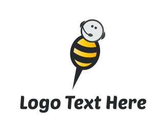 Call Center - Bee Call logo design