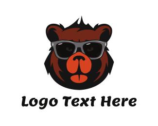 Teddy Bear - Cool Bear Face logo design