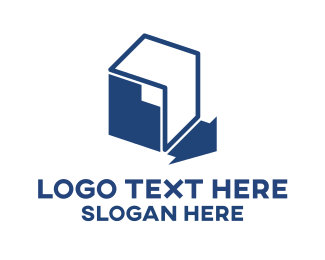 Packaging - Blue Storage logo design