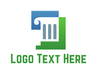 Pillar - White Column logo design