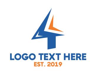 Direction - Sharp Number 4 logo design
