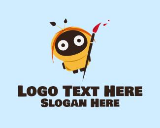 Paint - Robot Hood Artist logo design