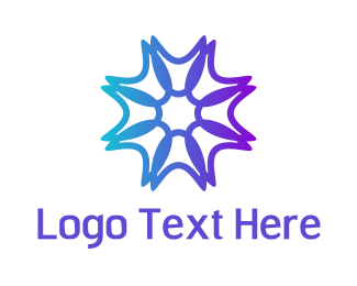 Yoga - Purple Neon Star logo design