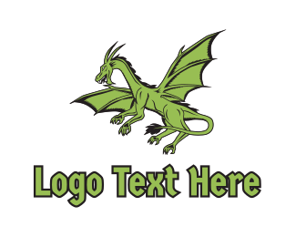Halloween - Green Dragon logo design