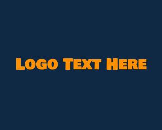Swedish - Strong Yellow Text logo design