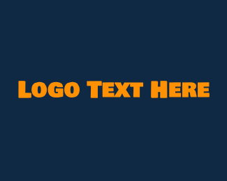 Swedish - Strong Yellow Text logo design