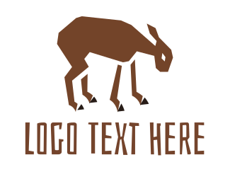 Brown And White - Goat logo design