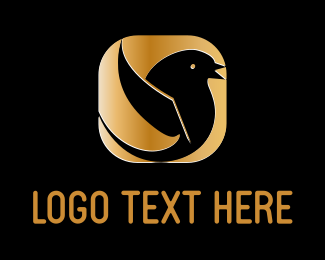 Tweet - Golden Bird logo design
