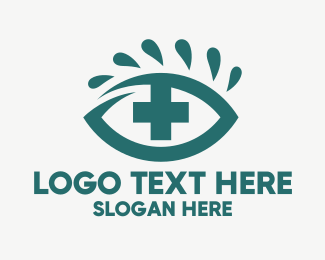 Red Cross - Red Eye Cross logo design