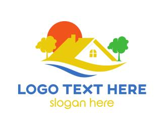Rental - Yellow Roof House  logo design